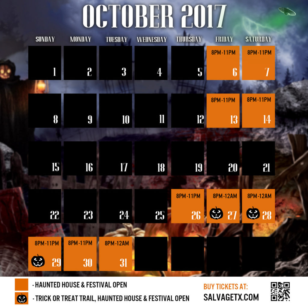 Halloween-October-Calendar